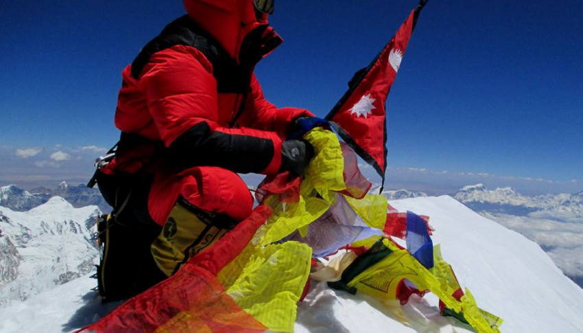 On the top of the Kanchenjunga